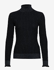 Scotch & Soda - Turtle neck in knitted rib with details - turtlenecks - night - 0