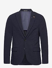 Scotch & Soda - Classic half-lined summer seersucker blazer - blazers à boutonnage simple - midnight - 0