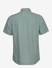 Scotch & Soda - REGULAR FIT- Shortsleeve garment -dyed linen shirt - basic shirts - emerald - 1