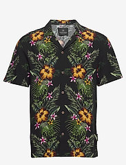 Scotch & Soda - HAWAII FIT-  Shorstleeve shirt with Hawaiian flower print - kortærmede skjorter - combo a - 0