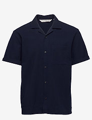 Scotch & Soda - HAWAII FIT- Shortsleeve seersucker shirt - basic skjorter - midnight - 0