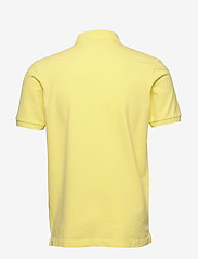 Scotch & Soda - Garment-dyed stretch pique polo - short-sleeved polos - bamboo yellow - 1