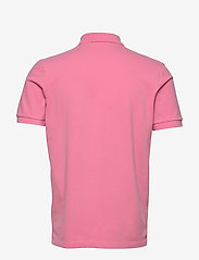 Scotch & Soda - Garment-dyed stretch pique polo - short-sleeved polos - hibiscus pink - 1