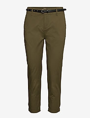 Regular fit chino, sold with a belt - MILITARY