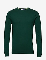 Scotch & Soda - Ams Blauw cotton cashmere crew  neck pull - tricots basiques - green smoke - 0