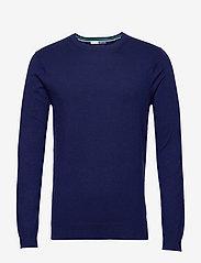 Scotch & Soda - Ams Blauw cotton cashmere crew  neck pull - tricots basiques - sacre blue - 0