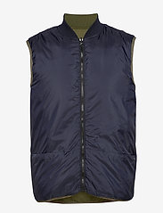 Scotch & Soda - Light weight padded reversible bodywarmer - vests - military green - 2