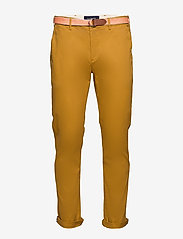 Scotch & Soda - Stuart peached twill chino with give away belt - chinos - sandlewood - 0