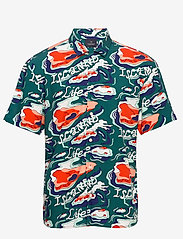 Scotch & Soda - Light weight island shirt with prints - short-sleeved shirts - combo d - 0