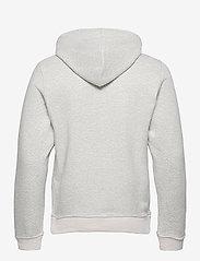 Scotch & Soda - Reversible hooded sweat with chest print - basic sweatshirts - grey melange - 1