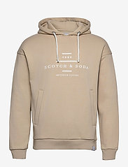Scotch & Soda - Scotch & Soda hooded sweat - hoodies - natural cloth - 0