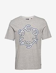 Scotch & Soda - Scotch & Soda crew neck logo tee - short-sleeved t-shirts - grey melange - 0