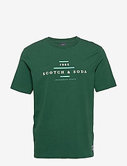 Scotch & Soda - Scotch & Soda crew neck logo tee - short-sleeved t-shirts - jungle green - 0