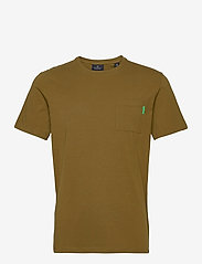 Scotch & Soda - Fabric dyed pocket tee - basic t-shirts - military green - 0