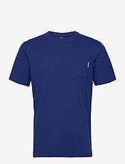 Scotch & Soda - Fabric dyed pocket tee - basic t-shirts - yinmin blue - 0