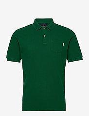Scotch & Soda - Garment dye polo - short-sleeved polos - jungle green - 0