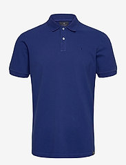 Scotch & Soda - Garment dyed stretch polo - short-sleeved polos - yinmin blue - 0