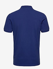 Scotch & Soda - Garment dyed stretch polo - short-sleeved polos - yinmin blue - 1