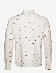 Scotch & Soda - Oxford long sleeve shirt with prints and yarn dyed stripes - checkered shirts - combo c - 1