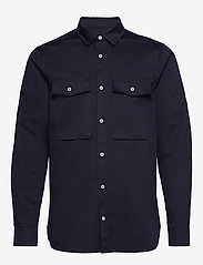 Scotch & Soda - Longsleeve clean utility shirt - basic shirts - night - 0