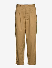 Scotch & Soda - Clean twill chino with detachable pleated belt - chinos - sand - 3