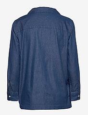 Scotch & Soda - Ams Blauw chic denim shirt with island collar - chemises en jeans - indigo - 1