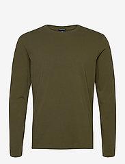 Scotch & Soda - Longsleeve tee in heavy organic cotton - basic t-shirts - military green - 0