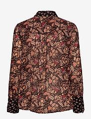Scotch & Soda - Button through shirt in mixed prints - chemises à manches longues - combo a - 1