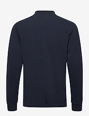 Scotch & Soda - Longsleeve knitted polo - half zip - midnight - 1