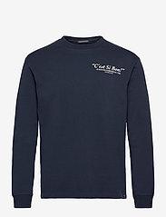 Organic cotton-jersey longsleeve artwork tee - NIGHT