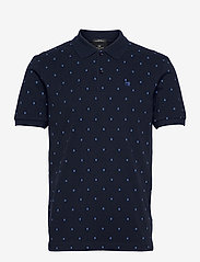 Classic all-over printed organic cotton pique polo - COMBO C