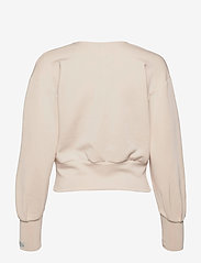 Scotch & Soda - Soft sweat with open neck and volumnious sleeves - crop tops - ecru - 1