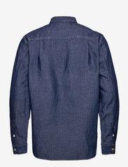 Scotch & Soda - Ams Blauw  organic cotton and linen workwear overshirt - kleding - indigo - 1