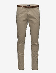 Scotch & Soda - Slim fit cotton/elastan garment dyed chino pant - chinos - sand - 0