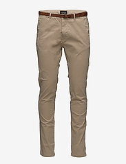 Scotch & Soda - Slim fit cotton/elastan garment dyed chino pant - chinos - sand - 2