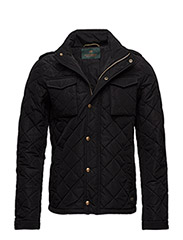 Light padded and all-over quilted jacket - 8 BLACK