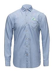 REGULAR FIT Classic oxford shirt with detachable pochet - BLUE