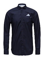 REGULAR FIT Classic oxford shirt with detachable pochet - NIGHT