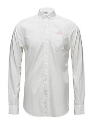 REGULAR FIT Classic oxford shirt with detachable pochet - WHITE