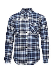 RELAXED FIT Brushed check shirt with tonal inside - COMBO B