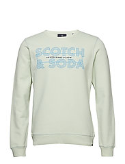 Ams Blauw graphic sweat - SOFT MINT