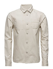 Lot 22 constructed premium patched shirt jacket - ECRU
