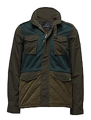 Jacket in mix & match polyester/ nylon with military - COMBO A