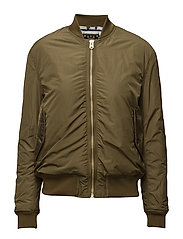 Bomber with special rib on sleeves - MILITARY GREEN