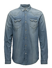Ams Blauw sawtooth shirt - 52 WASHED INDIGO