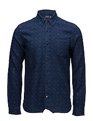 Allover printed indigo shirt - 17 COMBO A