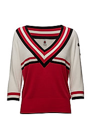 3/4 sleeve knit with sporty detailing - 17 COMBO A