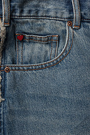Scotch & Soda - Seasonal Denim Skirt - Customized Blauw - lyhyet - 2098 customized blauw - 2