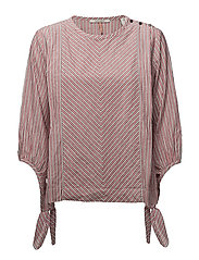 Lurex striped boxy top - COMBO B