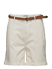Prima cotton chino shorts - OFF WHITE